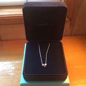 Authentic TIFFANY & Co. platinum gold necklace